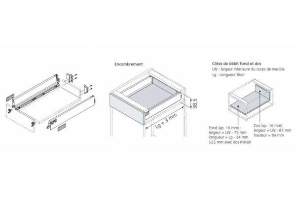 Schéma Kit tiroir standard