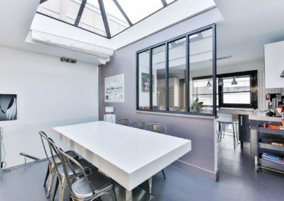 cuisine design avec verrière