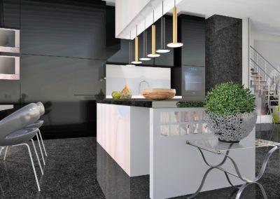 cuisine design blanche et noire